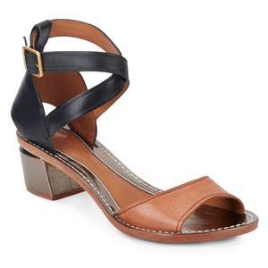 Anthropologie Leifsdottir Tri-tone Low Sandals